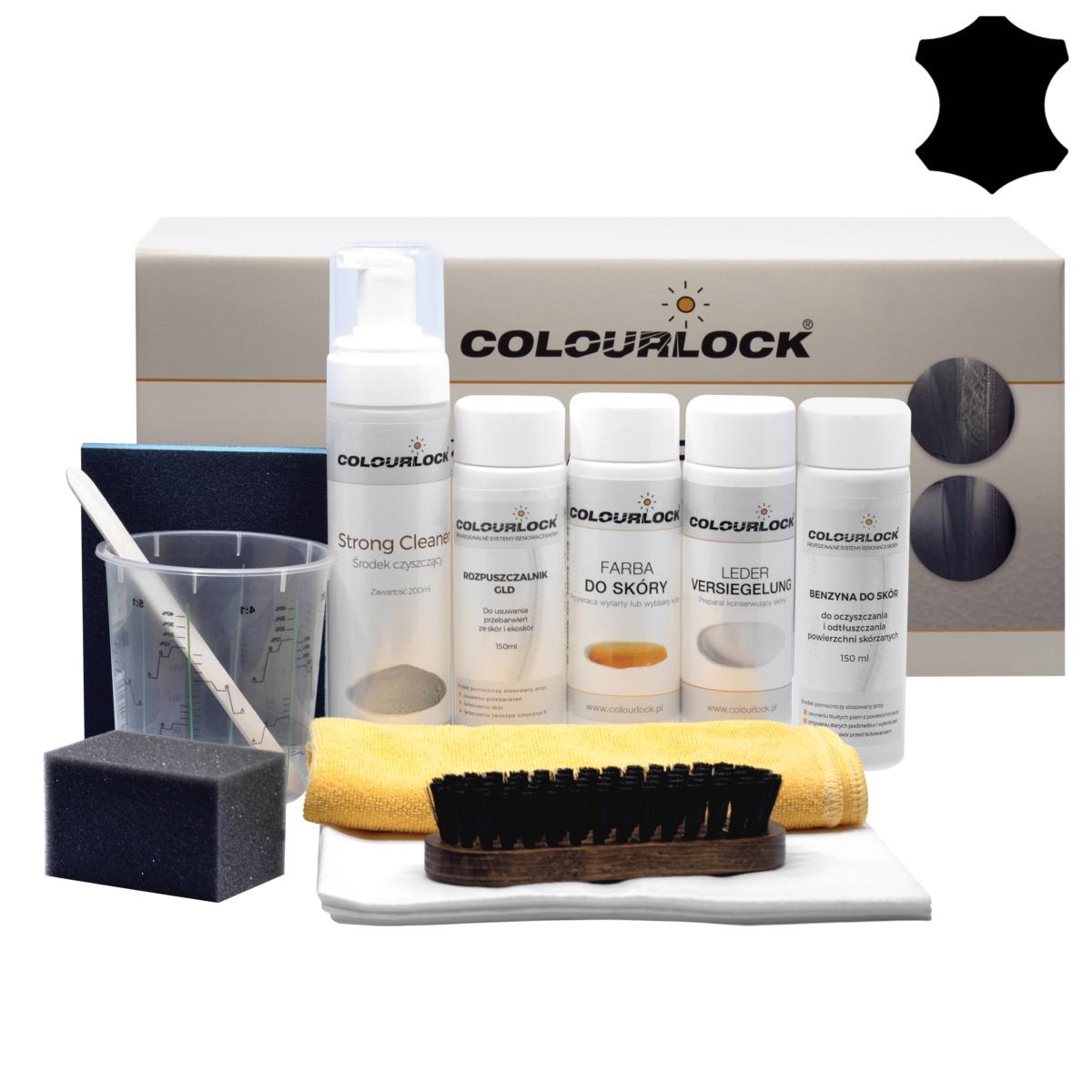 Zestaw do renowacji skór z farbą Colourlock czarny