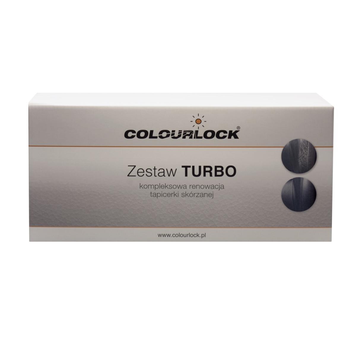 Zestaw TURBO czarny Colourlock renowacja skór tapicerek kierownicy